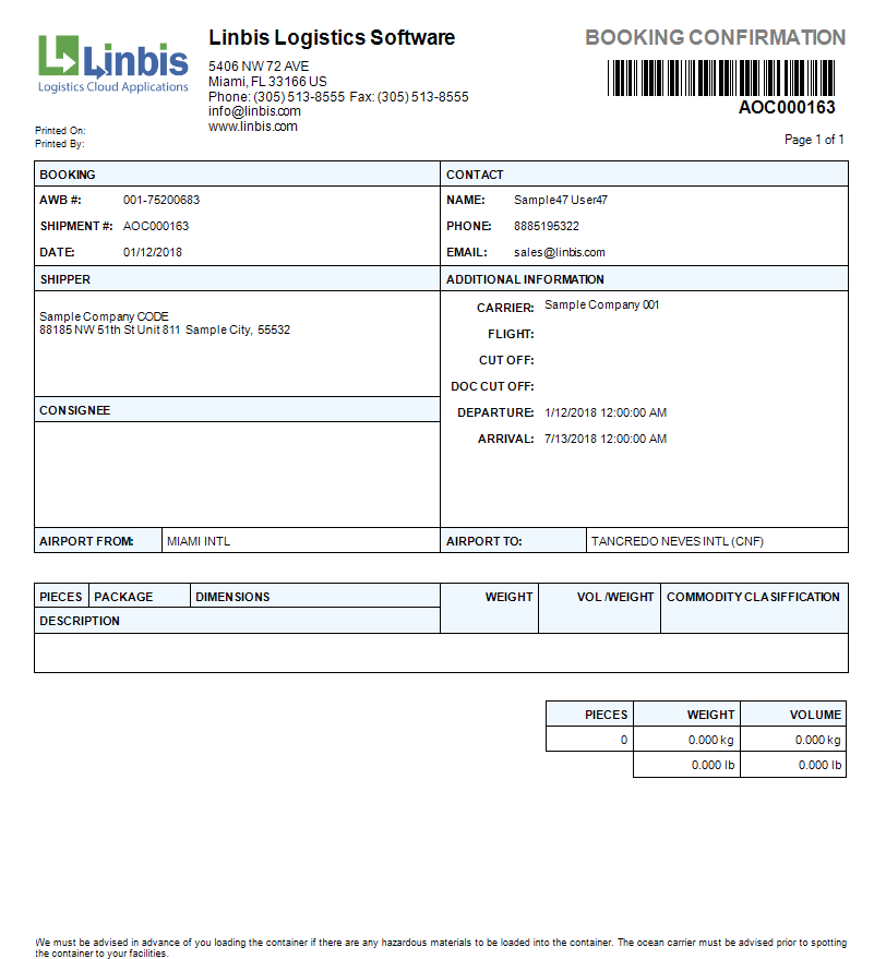 Back to Back Air Shipment - Air Freight Consolidation -Linbis Logistics