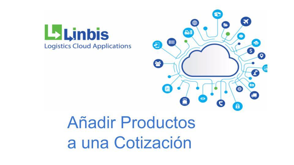 añadir productos a una cotizacion en el sistema logistica de Linbis