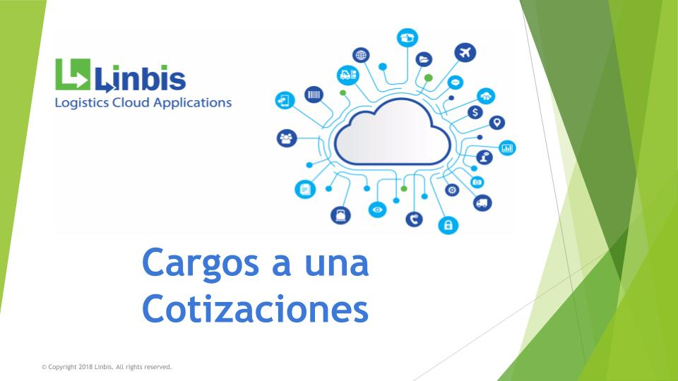 Cargos a una cotizacion en el sistema de logistica de Linbis